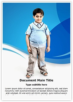childhood obesity powerpoint templates - obesity in children free medical template for word for