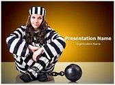 Prisoner In Uniform Editable PowerPoint Template