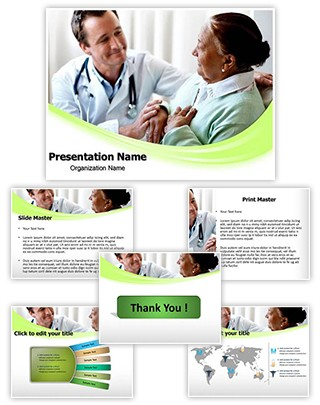 Senior Woman And Doctor Editable PowerPoint Template