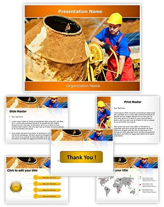 Concrete Cement Mixer Editable PowerPoint Template