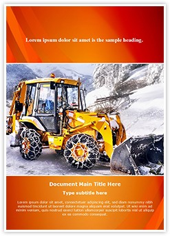 Snow Removal Editable Word Template