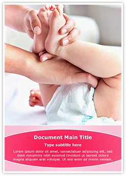 Changing Diaper Editable Word Template