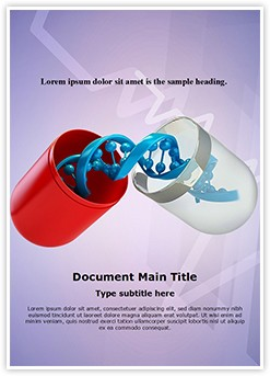 Genetics Medicine Editable Word Template