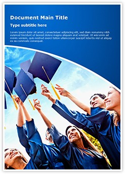 Graduation Editable Word Template