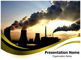 Smoking Chimneys Editable PowerPoint Template