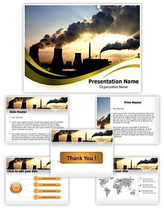 Smoking Chimneys Editable PowerPoint Template