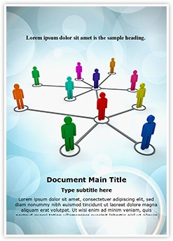 People Network Editable Word Template