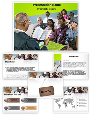 Congregation Church Sermon Editable PowerPoint Template