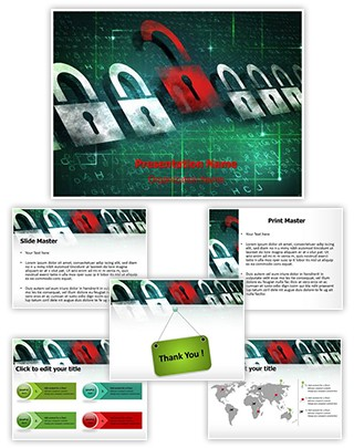 Computer Security Encryption Editable PowerPoint Template