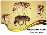 Wildlife Wolf Editable PowerPoint Template