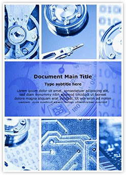 Machinery Collage Editable Word Template