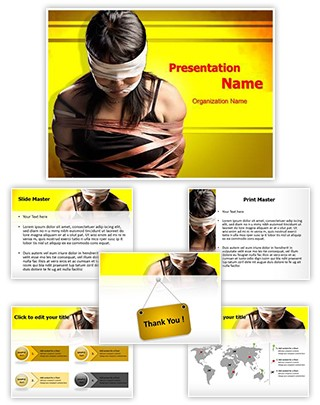 Human Trafficking Editable PowerPoint Template