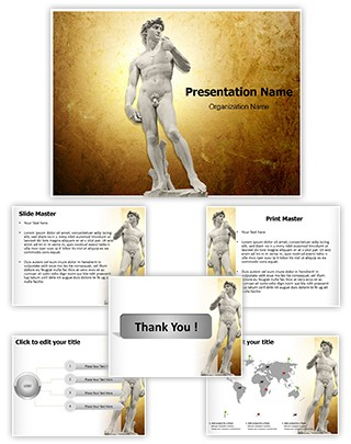 Michelangelos David Editable PowerPoint Template