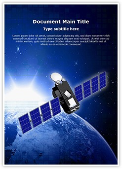 Satellite Editable Word Template