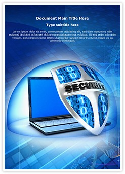 Security Shield Editable Word Template