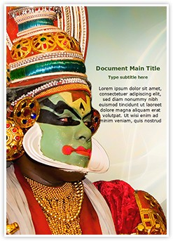 Kathakali tradional dance Editable Word Template