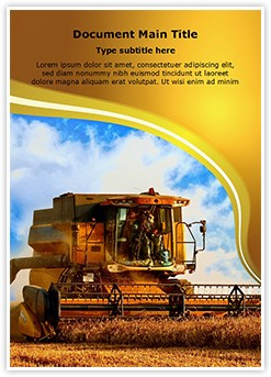 Combine Harvester Editable Word Template