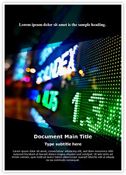 Stock Market Display Editable Word Template
