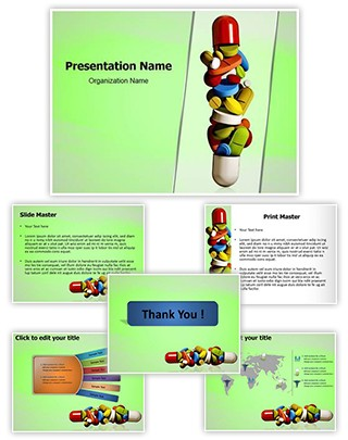 Medical pills Editable PowerPoint Template