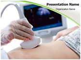 Pregnant Women ultrasound Editable PowerPoint Template
