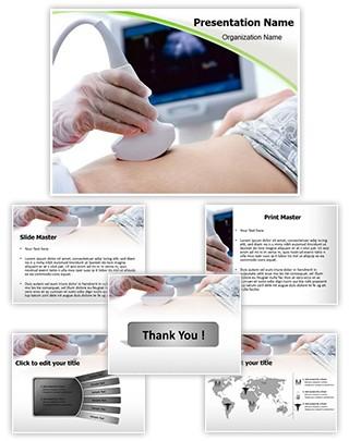 Pregnant Women ultrasound Editable PowerPoint Template