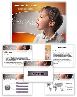 Child speaking Editable PowerPoint Template