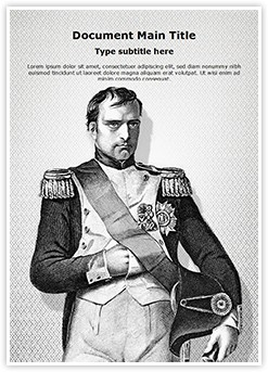 Napoleon Bonaparte Editable Word Template