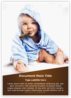 Child Smoking Editable Word Template