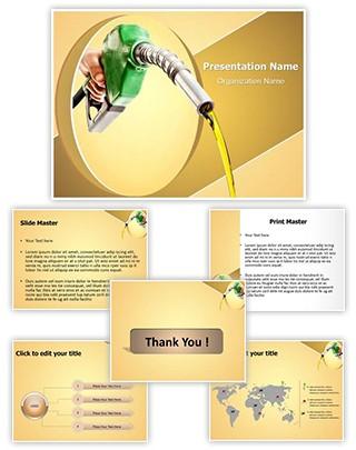 Petrol Fuel Editable PowerPoint Template