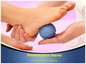 Foot Massage Ball Editable PowerPoint Template