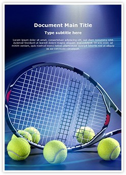 Tennis Racket Editable Word Template