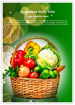 Vegetable Basket Editable Word Template