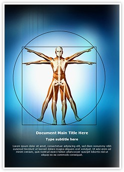 Vitruvian Man Editable Word Template