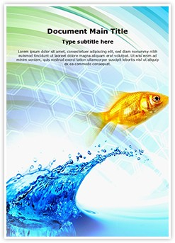 Water Fish Editable Word Template