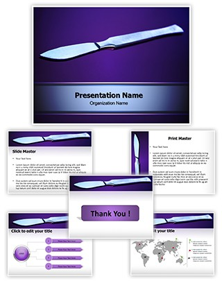 Surgical Scalpel Editable PowerPoint Template