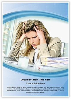 Workplace Stress Editable Word Template