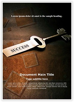 success key Editable Word Template