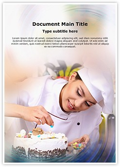 Chef baking cake Editable Word Template