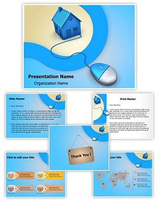 Mortgage Real Estate Editable PowerPoint Template