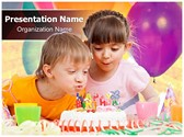 Birthday celebration Editable PowerPoint Template