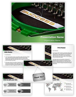 Embroidery Machine Editable PowerPoint Template