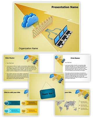 Network Shield Firewall Editable PowerPoint Template
