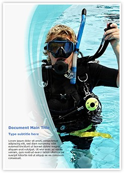 Scuba Diver Editable Word Template