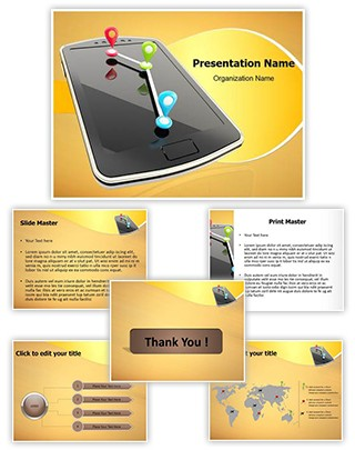 Mobile GPS Navigation Editable PowerPoint Template