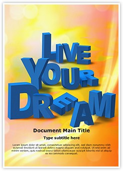 Live Your Dream Editable Word Template