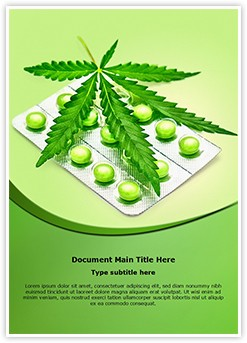 Cannabis sativa Editable Word Template