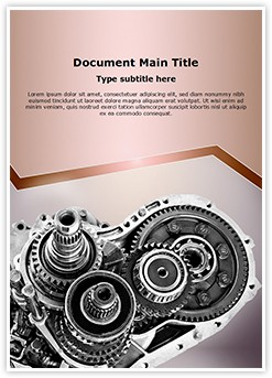 Car Gear Box Editable Word Template