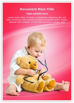 kid playing doctor Editable Word Template