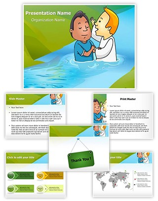 Baptismal Immersion Editable PowerPoint Template