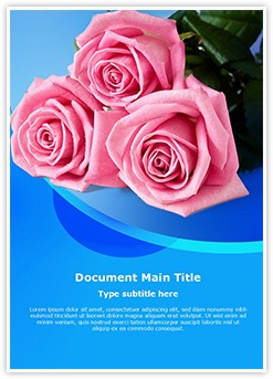 Pink Rose Editable Word Template